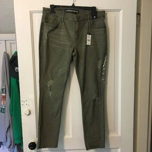 NWT Express Green Mid-Rise Ankle Legging
